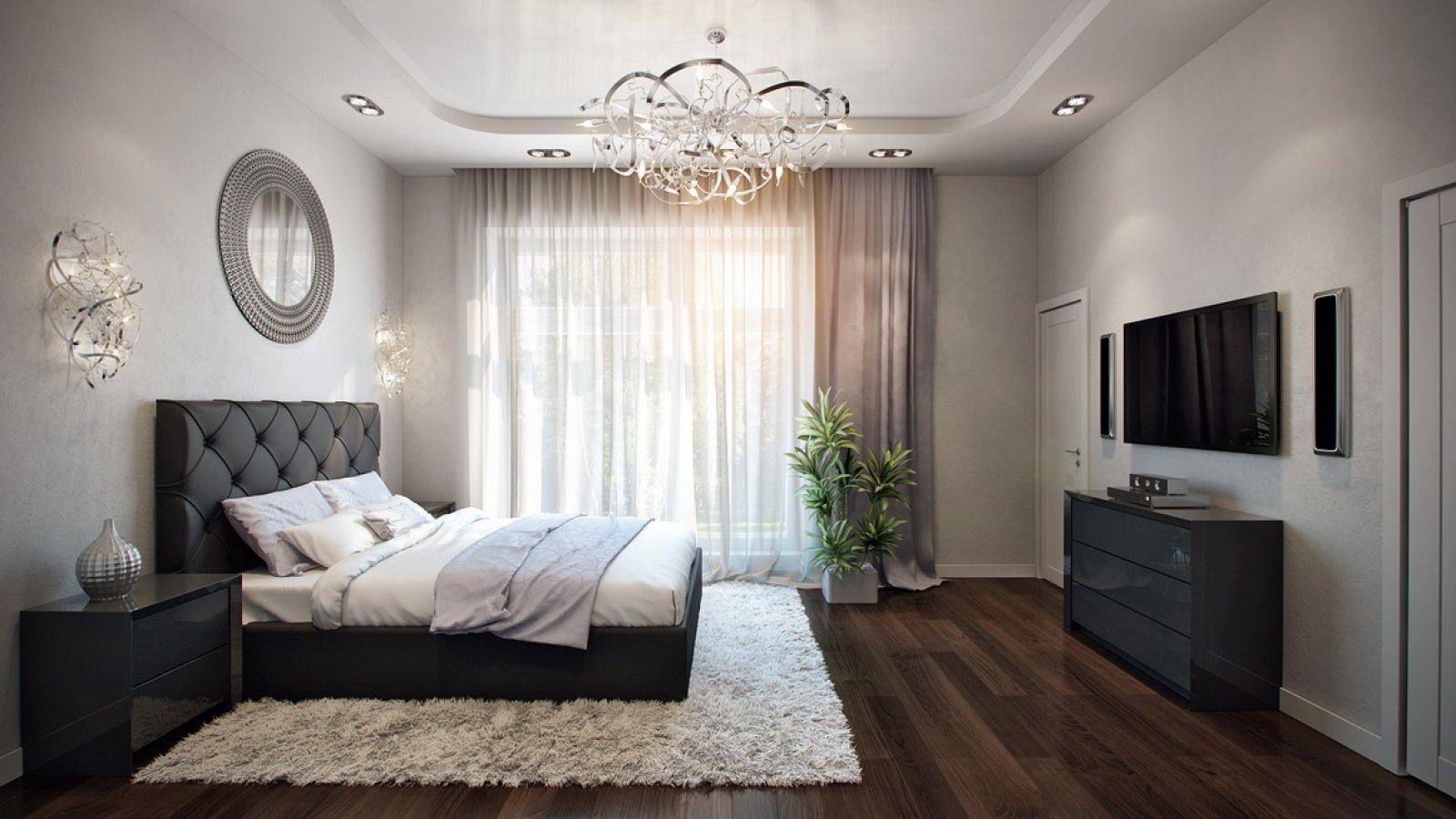Интерьеры спален фото в частных домах
