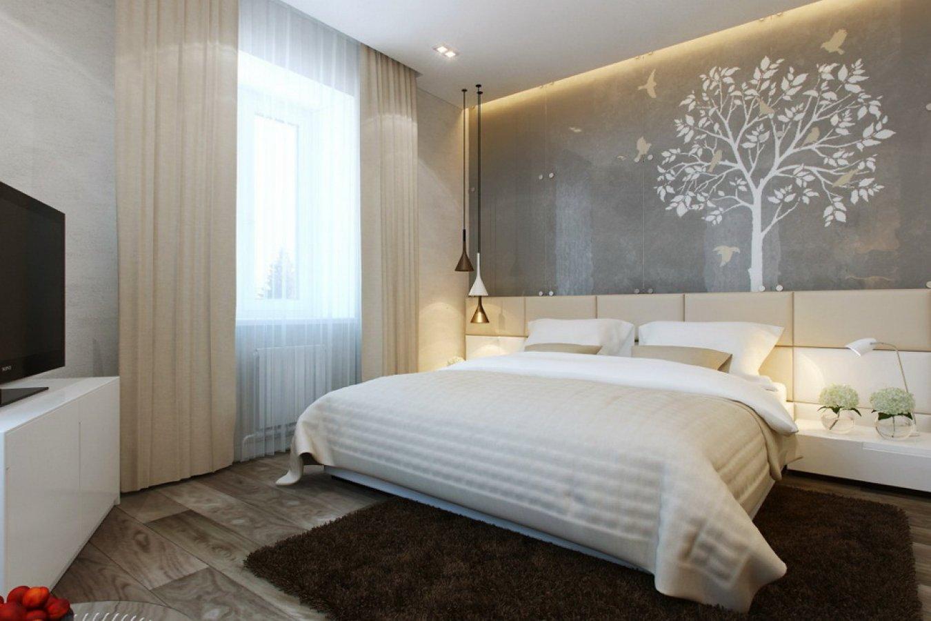Простой дизайн спальни своими руками: видео-инструкция по красивому 54